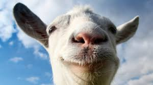 SMILING GOAT WITH CLOUDS