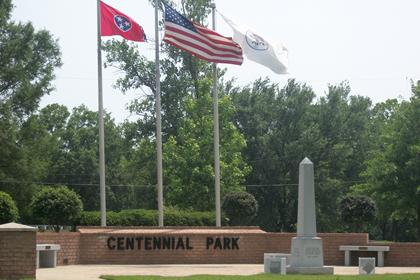 Flags Flying at Centennial Park